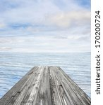 wooden pier on sunny day with... | Shutterstock . vector #170200724