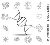 dna science biology line icon....