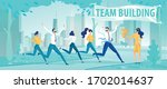 team building and healthy... | Shutterstock .eps vector #1702014637