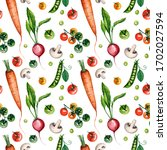 watercolor seamless pattern... | Shutterstock . vector #1702027594