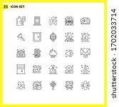 25 universal line signs symbols ...   Shutterstock .eps vector #1702033714