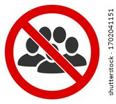raster stop people crowd flat... | Shutterstock . vector #1702041151