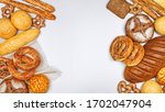 fresh bakery products and... | Shutterstock . vector #1702047904