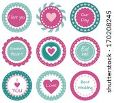 tags with hearts | Shutterstock .eps vector #170208245