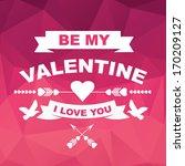 valentine's day poster... | Shutterstock .eps vector #170209127