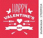 valentine's day poster... | Shutterstock .eps vector #170209214