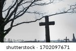 Old Christian Cross In A...