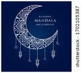 luxury arabesque mandala... | Shutterstock .eps vector #1702105387