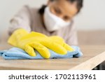 Hand Of Women Cleaning For...