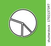 pie chart line sticker icon....