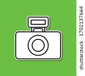 camera flash sticker icon....