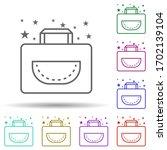 bag handbag multi color icon....
