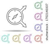compass direction multi color...