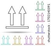 up arrows multi color icon....