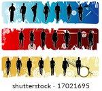 male models vector shape   Shutterstock .eps vector #17021695
