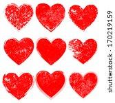 grunge hearts | Shutterstock .eps vector #170219159