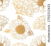 Vector Sunflowers Seamless...