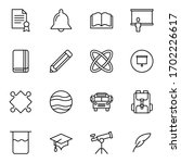 education icon set. collection... | Shutterstock .eps vector #1702226617