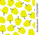 bell pepper pattern. whole  ... | Shutterstock .eps vector #1702234987