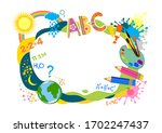 border with a palette  paints ...   Shutterstock .eps vector #1702247437