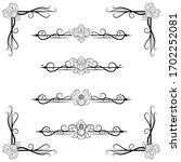 ornaments frames separator... | Shutterstock .eps vector #1702252081