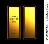 Set Of Gold Bar With Sign Of...