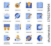 copywriting icons set in flat...