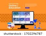 illustrations flat design... | Shutterstock .eps vector #1702296787