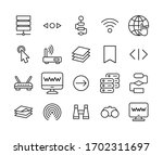 web line icons set. stroke...