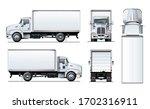 vector truck template isolated...   Shutterstock .eps vector #1702316911