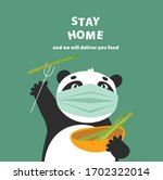 "vector illustration with panda ""... | Shutterstock .eps vector #1702322014"