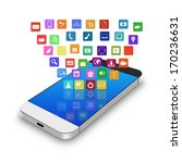 touch screen mobile phone with... | Shutterstock . vector #170236631