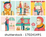 love story  vector illustration  | Shutterstock .eps vector #170241491