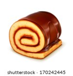 chocolate roll cake  detailed... | Shutterstock .eps vector #170242445