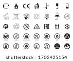set of packaging symbols.... | Shutterstock .eps vector #1702425154