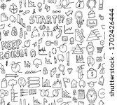 business doodle background... | Shutterstock .eps vector #1702426444