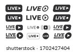 vector live streaming icon set...