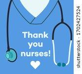thank you nurses   concept...   Shutterstock .eps vector #1702427524
