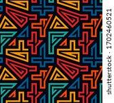bright ethnic seamless pattern. ... | Shutterstock .eps vector #1702460521