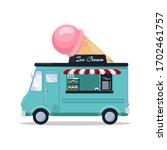 ice cream van. food truck... | Shutterstock .eps vector #1702461757