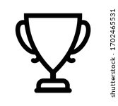 cup icon outline isolated... | Shutterstock .eps vector #1702465531