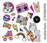 fashion patch badges with a... | Shutterstock .eps vector #1702500904