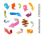 colorful vector arrows set... | Shutterstock .eps vector #170251211