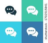 message bubbles chat vector... | Shutterstock .eps vector #1702515841