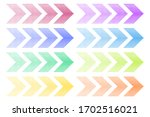 colored arrows with halftone... | Shutterstock .eps vector #1702516021