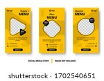 editable food menu banner... | Shutterstock .eps vector #1702540651