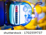 Gas Meter. Gas Pipes In The...