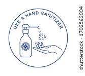 hand sanitizers  washing gel ... | Shutterstock .eps vector #1702563004