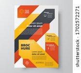 flyer stripes theme brochure... | Shutterstock .eps vector #1702572271