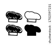a chef's hat icon vector design    Shutterstock .eps vector #1702597231